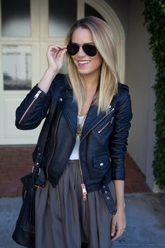 Leather jacket #fallstyle