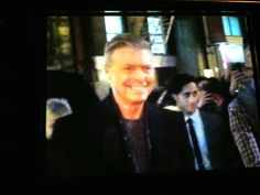 David Bowie, arriving at Lazarus Opening Night.