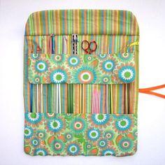 Knitting Needle Holder Crochet Hook Case Storage Roll
