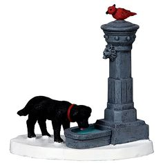 Lemax Decoration Water Fountain Christmas Cake Decorating Dog Bird Figures for sale online Lemax Christmas Village, Lemax Village, Christmas Store, Christmas Villages, Christmas Elf, Xmas, Village Houses, Miniature Christmas, Christmas Items