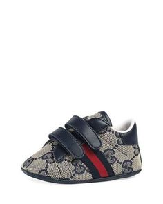 24c5e824f K0RDT Gucci New Ace GG Canvas Grip-Strap Sneaker