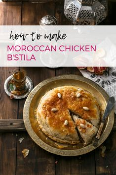 How to Make Moroccan Chicken B'stila. This authentic Moroccan recipe is delicious and uniquely Moroccan. Morrocan Food, Almond Chicken, Moroccan Chicken, Dinner Party Menu, Middle Eastern Recipes, Savoury Dishes, International Recipes, Food Processor Recipes, Moroccan Recipes