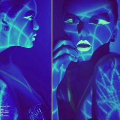 #neon #uv #light #blue #glossenvyltd #aliarmourmodel #photography #beauty #makeup #mua #fashion #trendy #editorial by Magic Owen Photography, via Flickr