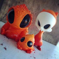 Monsters and Misfits II 3 Figure Mini Sweets Set by Chris Ryniak, Kathie Olivas | Circus Posterus