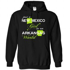 (NMJustXanhChuoi001) Just A New Mexico Girl In A Arkans - #small gift #house warming gift. FASTER => https://www.sunfrog.com/Valentines/-28NMJustXanhChuoi001-29-Just-A-New-Mexico-Girl-In-A-Arkansas-World-Black-Hoodie.html?68278