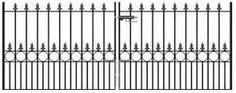 Royal Talisman Wrought Iron Driveway Gates - Suitable for securing any large entrance where security and aesthetics are of equal importance.
