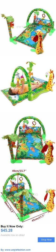 Baby gyms and play mats: Infant Baby Playmat Rainforest Musical Activity Play Gym Toy Crawl Soft Mat Hook BUY IT NOW ONLY: $45.28 #ustylefashionBabygymsandplaymats OR #ustylefashion