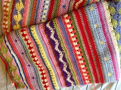 Ravelry: Jotown19's As-we-go-stripey blanket CAL
