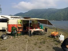 Lake side camp.