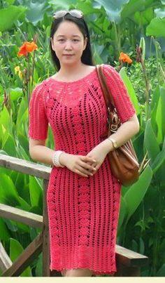 Delicadezas en crochet Gabriela: Vestido y tapado