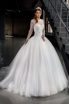 Magnificent Formal Women Dress For Wedding Abiti Sposa Appliques Beaded Ball  Gown 2015 Plus Size Wedding Dresses With Sleeves 5e6563b7123b