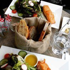 Fabulous #lunch with @randgmom @maisonkayserusa #greeksalmon #salad #foodpics #yummy #flatirondistrict #maisonkayser #nyceats #newyork_instagram #empirestateofmind #iloveny #food52 #eeeeeeats #huffposttaste #healthy #foodiechats
