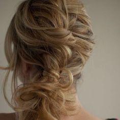 Pretty bride/bride's maid hair idea