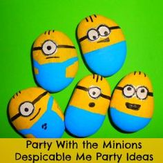 Despicable me Minion painted rocks