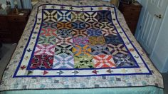 """QM Scrap Squad: Keri Blankenship's """"There and Back Again"""" scrap quilt version of Anita Grossman Solomon's Arrowhead quilt pattern. The pattern for this quilt is included in Quiltmaker's free ebook, Free Easy Quick Quilt Patterns."""
