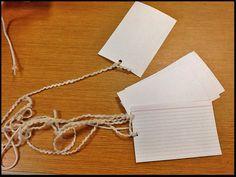 Prepared notecards
