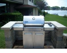 Backyard Bbq Grill Design Barbecue 54 New Ideas Outdoor Grill Area, Outdoor Grill Station, Patio Grill, Bbq Area, Bbq Grill, Outdoor Kitchen Kits, Backyard Kitchen, Outdoor Kitchen Design, Backyard Bbq