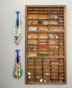 Vintage Printer Tray Turned Jewelry Organizer // Live Simply by Annie