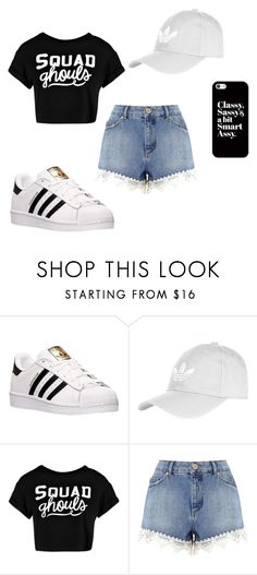 """Adidas Ghoul"" by infinite-xoxo on Polyvore featuring adidas, Topshop, Boohoo, Miss Selfridge and Casetify"