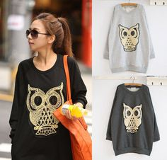 ❤Glitter Owl Sweatshirt Top❤Japan Japanese Korean Fashion Funky Blouse cute S M #Unbranded #Top