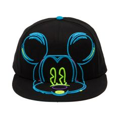 Shop for 3D Neon Mickey Snapback Hat, Black, at Journeys Shoes. Tricked out Mickey! Snapback hat with raised neon Mickey Mouse graphic and logo text under bill.