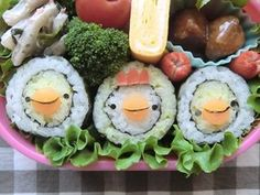 chicken & chick sushi roll