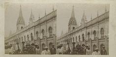 Universidad Central de Venezuela, 1896, Caracas. El Convento de San Francisco fue objeto de una reparación y se convirtió en el Palacio de las Academias.