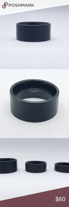 Tungsten Carbide Ring Tungsten Carbide Ring, available in three mm widths, this listing is for the thickest one which is 12mm Accessories Jewelry