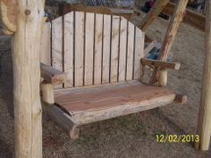 Gentil 2 Seater Log Swing Bench From Wild West Creations