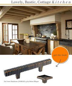 Du Verre- lovely, rustic, kitchen hardware.