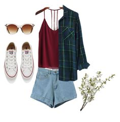 """""""Untitled #134"""" by helloplantpal ❤ liked on Polyvore featuring Madewell, Converse, Icon Eyewear and LSA International"""