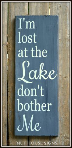 Lake Sign Lake House Decor Chalkboard Housewarming Gift Rustic Wood Signs Cottage Cabin Wall Art Hand Painted Quotes Wooden Life Plaque by NutHouseSigns on Etsy Lake House Signs, Cabin Signs, Cottage Signs, Lake Signs, Beach Signs, Rustic Wood Signs, Wooden Signs, Lake Quotes, Haus Am See