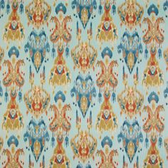 The G1107 Azure upholstery fabric by KOVI Fabrics features Ikat, Southwest pattern and Blue, Teal as its colors. It is a Cotton, Print type of upholstery fabric and it is made of 100% Cotton material. It is rated Exceeds 30,000 double rubs (heavy duty) which makes this upholstery fabric ideal for residential, commercial and hospitality upholstery projects.For help call 800-860-3105.