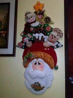 Christmas Stocking Kits, Felt Christmas Stockings, Felt Christmas Decorations, Christmas Home, Christmas Wreaths, Christmas Crafts, Christmas Ornaments, Tree Shop, Holiday Tree