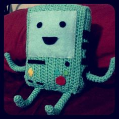 (via Etsy. Crochet Christmas Gifts, Crochet Gifts, Crochet Amigurumi, Crochet Yarn, Adventure Time Crochet, Adventure Time Parties, Crochet Character Hats, Crochet Cross, Needle Felted Animals