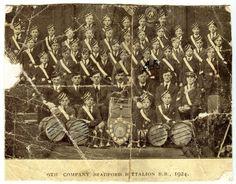 Bradford Boys Brigade Band 1924. Albert Burnett marked.
