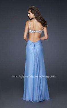 La Femme 17472 Periwinkle Strapless Full Length Sequin Evening Dresses Cheap