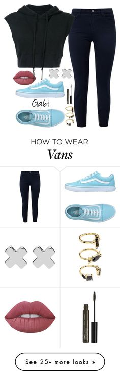 """""""✨✨"""" by taaniia on Polyvore featuring Vans, Lime Crime, J Brand, Greg Lauren, Witchery, Noir Jewelry and NYX"""