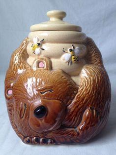 Vintage Mccoy Sleeping Bear With Honey Pot Cookie Jar USA 143 #McCoy