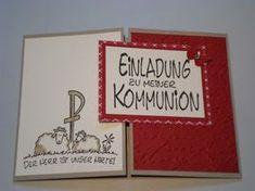 Connys Bastelstübchen: Einladungskarten zur 1. Hl. Kommunion