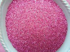 Strawberry Pink Vintage German Glass Glitter