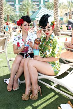 Vintage Vandalizm, Viva Las Vegas 2014 - love the look but wow the hair and accessories are too cute