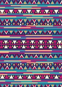 AZTEC PATTERN Art Print by Nika