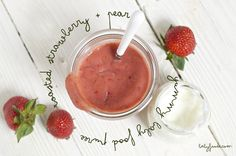 Homemade Baby Food Puree-Strawberry Pear Cinnamon Puree