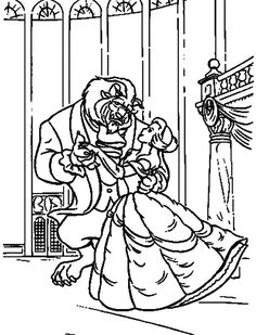 The Beast and Belle Dance Coloring For Kids - Princess Coloring Pages : KidsDrawing – Free Coloring Pages Online Belle Coloring Pages, Dance Coloring Pages, Disney Princess Coloring Pages, Disney Princess Colors, Pattern Coloring Pages, Online Coloring Pages, Disney Colors, Coloring For Kids, Coloring Pages For Kids