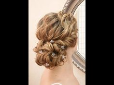 Wedding hairstyling video - romantic lowdo - YouTube
