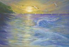 #pastel #painting #sea #sunset