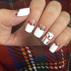 Polar bear nails by Jenny Fox