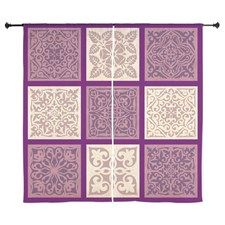 Shop PURPLE TILE Curtains designed by Bohemian Chic. Lots of different size and color combinations to choose from. Quilted Curtains, Curtain Designs, Tile, Bohemian, Chic, Purple, Color, Home Decor, Shabby Chic