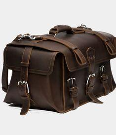 Side Pocket Leather Duffel Bag-saddlebackleather Replica